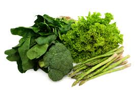 haircare with green leaf vegetables